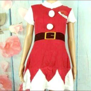 PLANET GOLD Santa Claus Dress Size M NWT